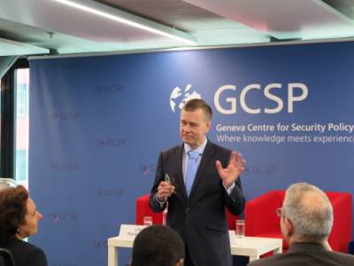 Lieutenant General Esa Pulkkinen, Director General of the EU Military Staff (EUMS), Visited the GCSP