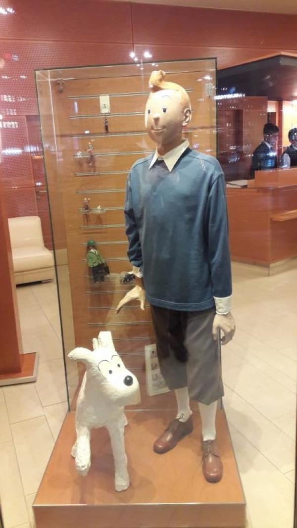 Tintin à l'hôtel Cornavin