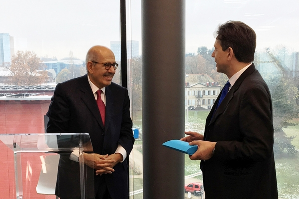 [REPOST] GCSP Hosts Dr Mohamed ElBaradei, Director General Emeritus of the IAEA and Nobel Peace Prize Laureate