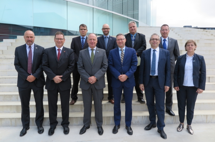 LTG Broeks, his Delegation and Senior Staff from Maison de la Paix